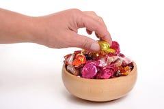 pucharu cukierku zabranie zdjęcie royalty free