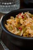 pucharu dof ryż płycizny warzywa biały Fotografia Stock