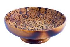pucharu drewniany owocowy Obrazy Stock