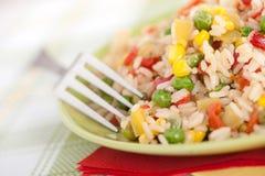 pucharu grochów pieprzy czerwieni ryż Fotografia Stock