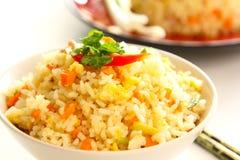 pucharu jajko smażący ryż Zdjęcia Royalty Free