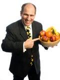 pucharu mężczyzna owocowy szczęśliwy zdrowy Obraz Stock