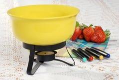 pucharu ostrości fondue obręcza set Zdjęcie Royalty Free