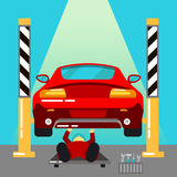 pucharu samochodowy dźwignięcie podnosząca nafciana zastępstwa usługa Samochodów diagnostycy i naprawy Auto utrzymanie Serv Obrazy Royalty Free