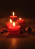 pucharu składu gerber spławowy zdrój dryluje ręczniki perfumowe świeczki, kawowe fasole, aromatyczne drewniane piłki Obraz Stock