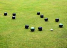 Pucharu sport - kręgle zieleń zdjęcie stock