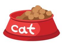 Pucharu suchy jedzenie dla kotów z podpisem ilustracja wektor