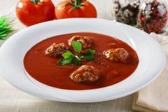 pucharu warzywo zupny pomidorowy zdjęcia stock
