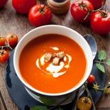 pucharu warzywo zupny pomidorowy Fotografia Royalty Free