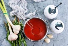 pucharu warzywo zupny pomidorowy Zdjęcie Royalty Free