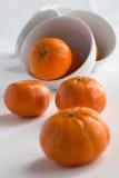 puchary z tangerines Zdjęcia Royalty Free