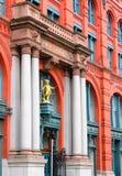 Puck Building é uma construção histórica situada na vizinhança de Nolita de Manhattan, New York City imagens de stock royalty free