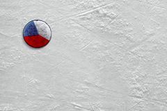 Puck on ice Royalty Free Stock Images