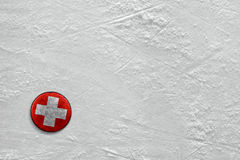 Puck on ice Royalty Free Stock Image