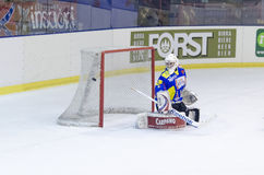 The puck in not in the net Stock Images