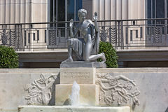 The Puck Statue outside of the Folger Shakespeare Library. Stock Photos