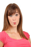 Puckered lips Stock Photo