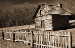 Puckett'scabine Blauw Ridge Parkway, Virginia, de V.S. stock afbeeldingen