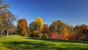 Puckoriai midday landscape. Puckoriai landscape, Pavilniai regional park. Midday color stock photography