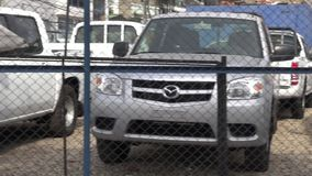 Puckup Trucks, Dealership, For Sale, New and Used stock video