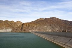 Puclaro Dam in Central Valley of Chile. In may 2018 royalty free stock images