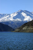 Puclaro reservoir in Chile. Royalty Free Stock Images