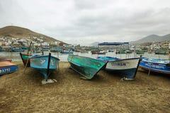 Pucusana pier, Peru Royalty Free Stock Images