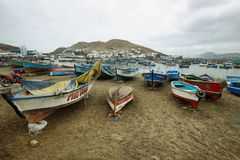 Pucusana pier, Peru Stock Image
