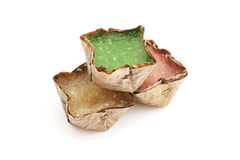 Pudín chino con el caramelo del coco en cesta Fotografía de archivo libre de regalías