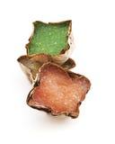 Pudín chino con el caramelo del coco en cesta Imagen de archivo libre de regalías