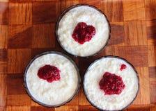 Pudín de arroz Foto de archivo libre de regalías