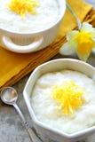 Pudín de arroz con ánimo de limón Fotografía de archivo