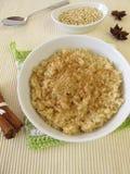 Pudín de arroz de la leche de Mochi Imágenes de archivo libres de regalías