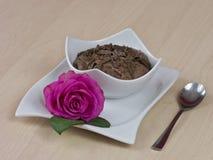 Pudín de chocolates Fotos de archivo