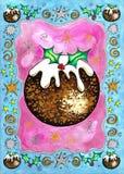 Pudín de la Navidad Imágenes de archivo libres de regalías