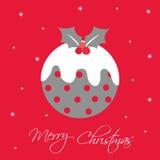 Pudín de la Navidad Foto de archivo libre de regalías