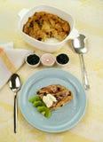 Pudín de pan y de la mantequilla Imagen de archivo libre de regalías