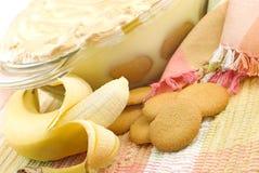 Pudín hecho en casa del plátano Foto de archivo