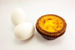 Pudín y huevos cocidos Foto de archivo
