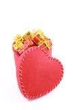 pudło w kształcie serca Obrazy Royalty Free
