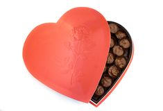 pudło w kształcie serca Fotografia Royalty Free