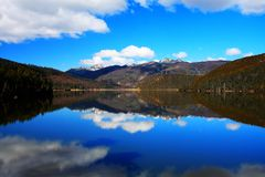 The pudacuo national park on the Qinghai Tibet Plateau royalty free stock images
