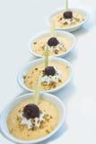Pudding. Grape Flavor Creamy Pudding Dessert stock photo