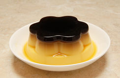 Pudding. Flan egg food sweet royalty free stock images