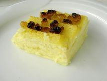 Pudding 4 del burro e del pane immagini stock