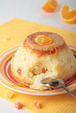 Pudding av ris med apelsinskal Royaltyfria Bilder