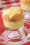 Pudding with bananas and vanilla wafers Stock Image