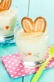 Pudding-bunny for easter Royalty Free Stock Images