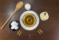 Pudding casalingo fotografia stock