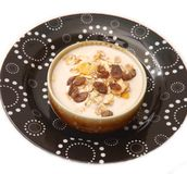 Pudding with cerials Stock Images